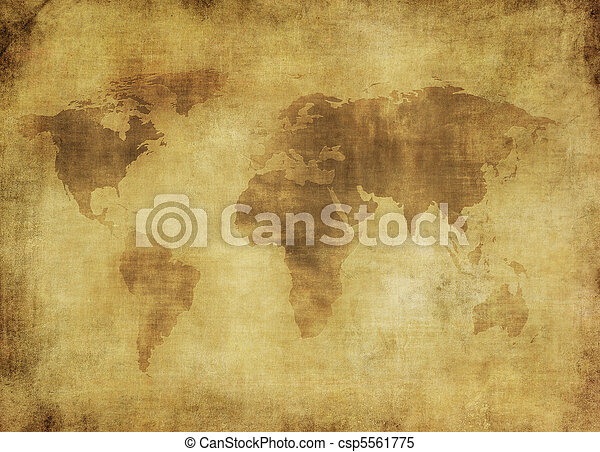 ancient map of the world  - csp5561775