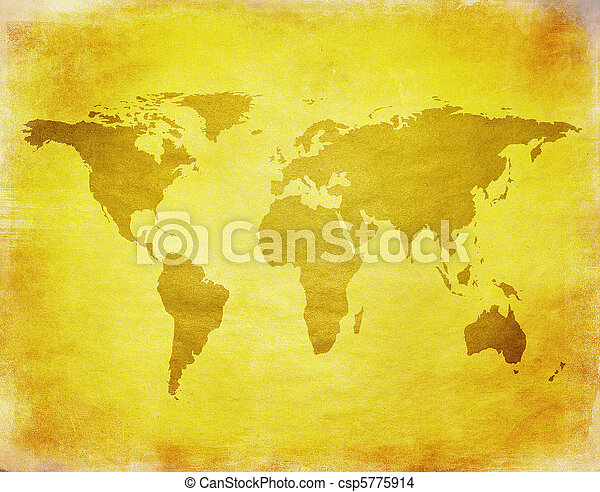 ancient map of the world - csp5775914