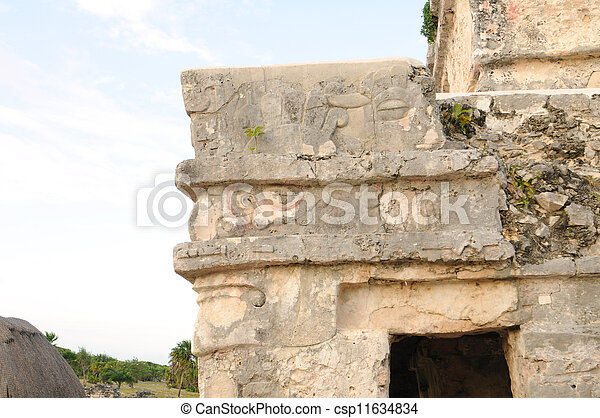 Ancient Mayan Ruins - csp11634834