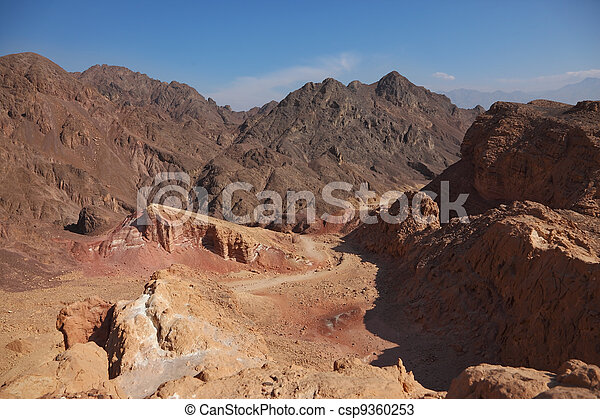 Ancient mountains in Israel. - csp9360253