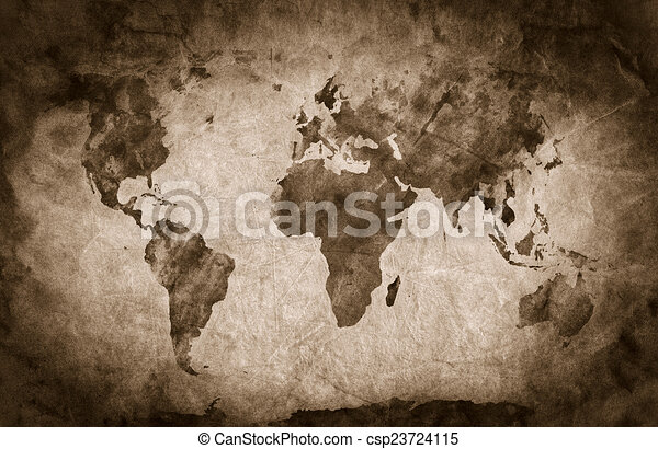 Ancient old world map pencil sketch grunge vintage background ancient old world map pencil sketch grunge vintage background texture csp23724115 gumiabroncs Images
