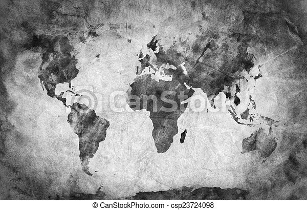 Old world map black and white design templates delightful ancient old world map pencil sketch grunge vintage background texture csp23724098 gumiabroncs Image collections