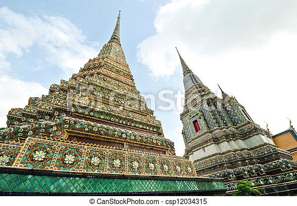 Ancient Pagoda at Wat Pho, Thailand - csp12034315
