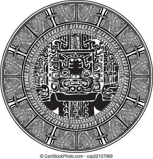 ancient pattern. Vector illustration - csp22107069