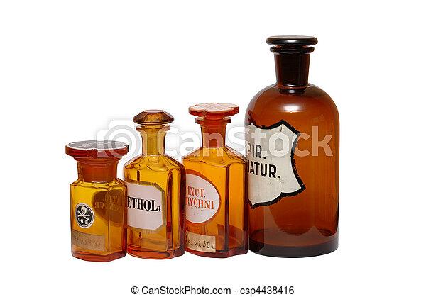 Ancient Pharmaceutical Phials - csp4438416