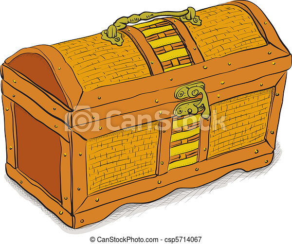 Ancient pirate chest - vector eps8 - csp5714067