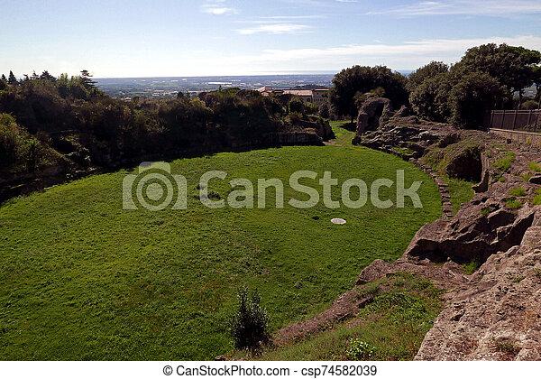 ancient Roman Amphitheatre - csp74582039