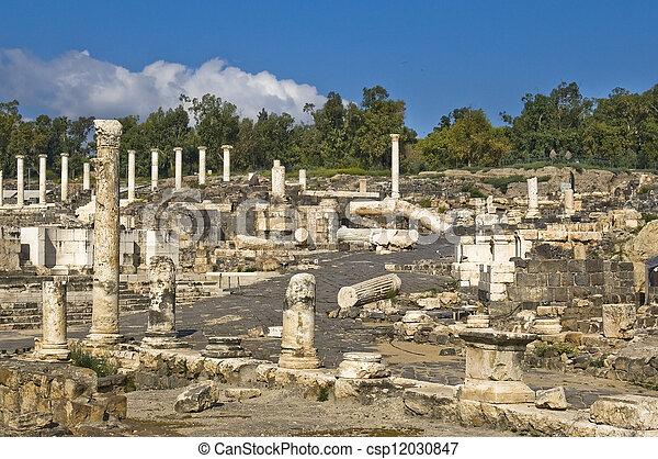 ancient Roman archaeological site - csp12030847