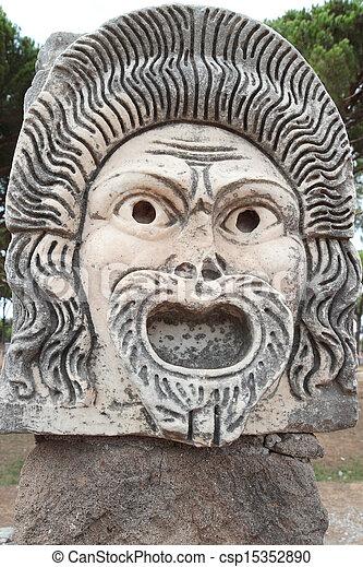 ancient Roman mask - csp15352890