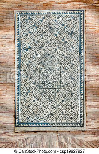 ancient roman mosaic - csp19927927