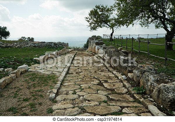 Ancient Roman road - csp31974814