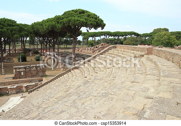 Ancient Roman Theater - csp15353914