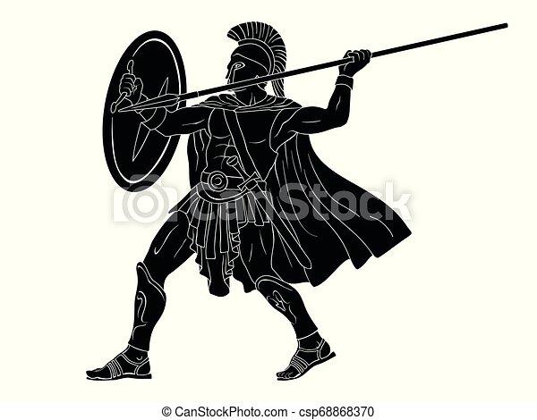 Ancient Roman Warrior. - csp68868370