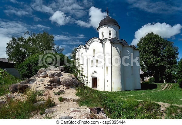 Ancient russian church - csp3335444