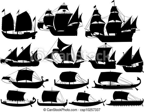 ancient sail boats - csp10257337