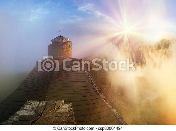 ancient stone observatory Pop Ivan - csp30804494