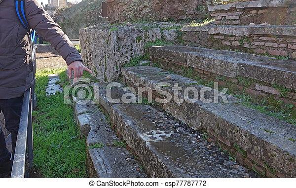 ancient stone Roman game - csp77787772