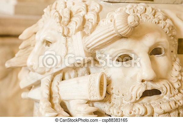 Ancient theatre mask - csp88383165