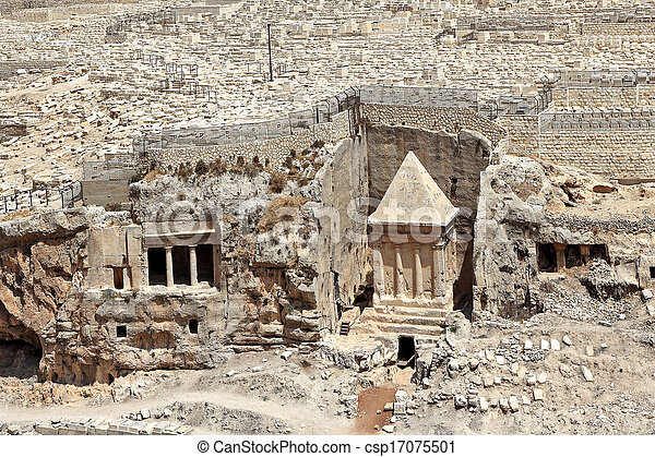 Ancient tomb and cemetery in Jerusalem, Israel. - csp17075501