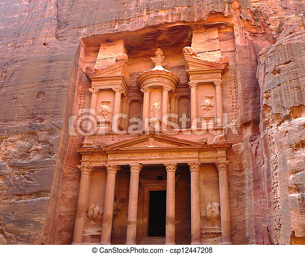 Ancient Treasury  in Petra, Jordan. - csp12447208