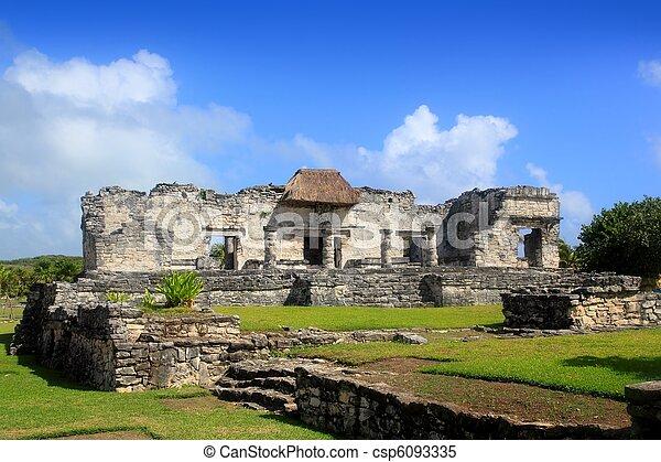 Ancient Tulum Mayan ruins Mexico Quintana Roo - csp6093335