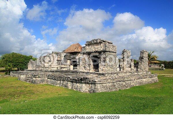 Ancient Tulum Mayan ruins Mexico Quintana Roo - csp6092259