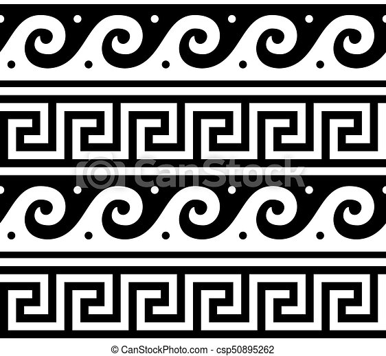 Ancient Vector Greek Seamless Pattern Traditional Waves And Key Classy Greek Vase Patterns