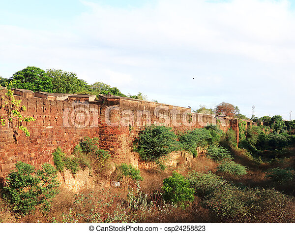 ancient wall - csp24258823