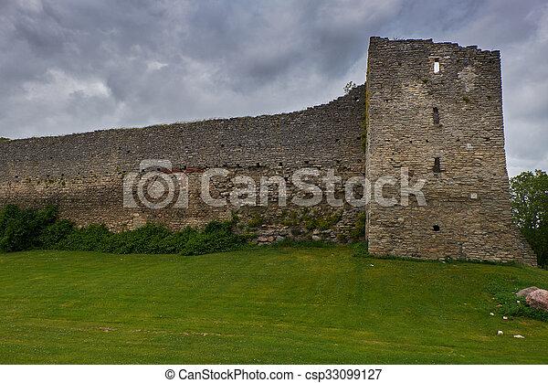 ancient wall - csp33099127