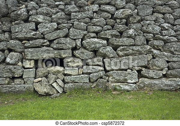 ancient wall - csp5872372