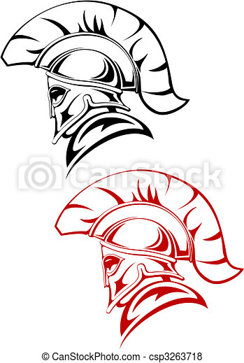 ancient warrior symbol as a concept of security or power
