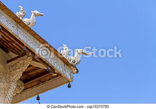 Ancient wood architecture - csp15373793