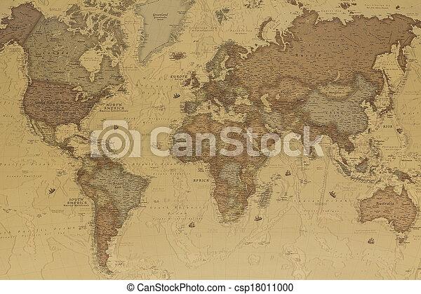 Ancient world map - csp18011000