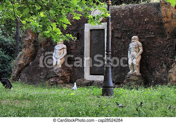 ancient XVII century Magic Portal - csp28524284