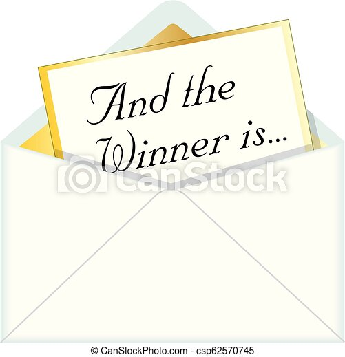 And the Winner is Envelope - csp62570745