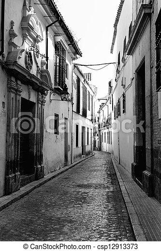 andalucia, strade, meridionale, villaggio, bianco, spagna - csp12913373