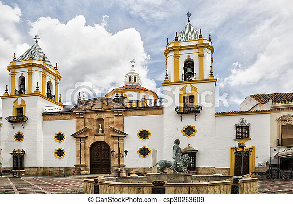 andalusia, church in the square - csp30263609