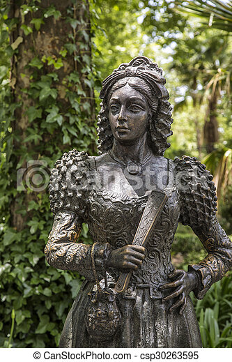 andalusia, statue in the park - csp30263595