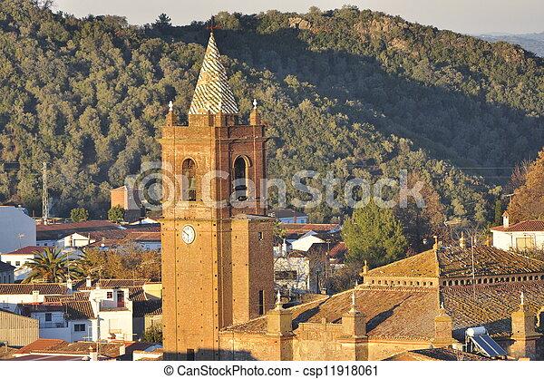 Andalusian church village. - csp11918061