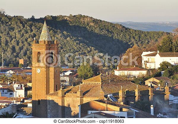 Andalusian church village. - csp11918063