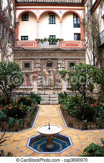 Andalusian patio - csp3690970