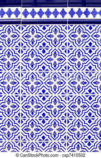Andalusian style spanish blue ceramic tiles pattern Adorable Pattern In Spanish