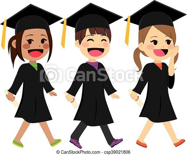andar, crianças, graduação - csp39021806