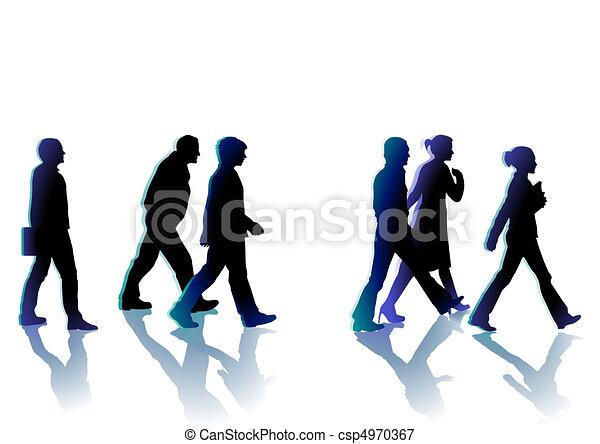 andar, pessoas - csp4970367