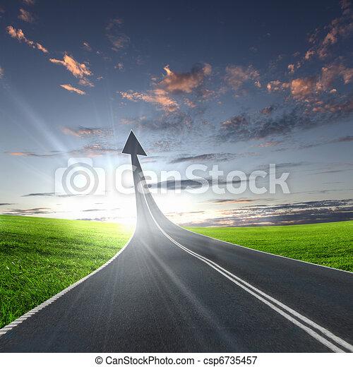 andare, autostrada, strada, su - csp6735457