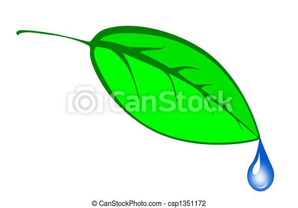 andare, foglia verde - csp1351172