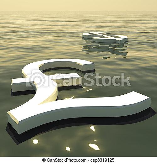 andare, forex, scambio, soldi, lontano, dollaro, libbra, galleggiante, esposizione - csp8319125