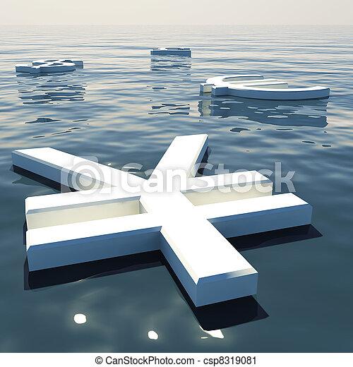 andare, forex, scambio, soldi, lontano, yen, valute, galleggiante, esposizione - csp8319081