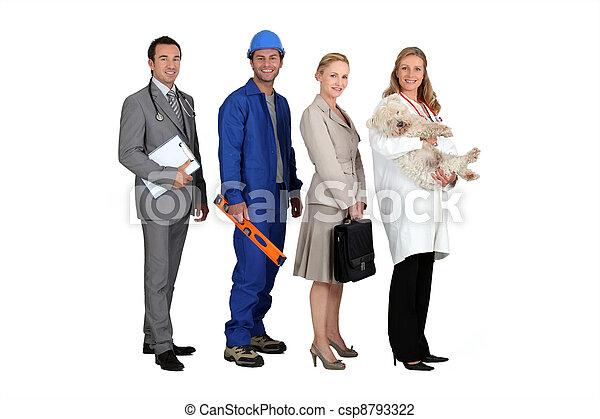 anders, beroepen, mensen - csp8793322