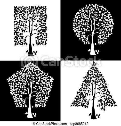 anders, bomen, shapes., geometrisch - csp8685212